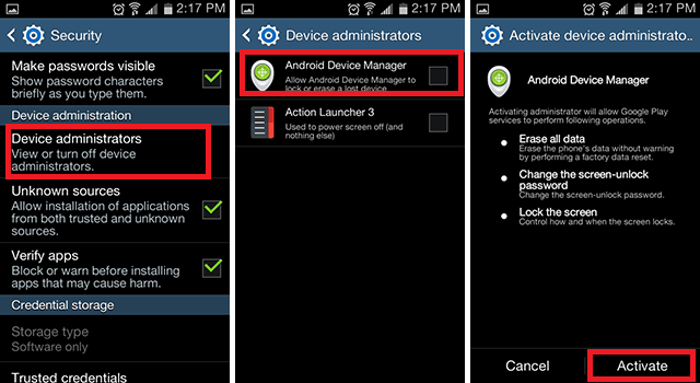 Android Com Device Manager