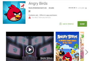 Angry birds - Offline game