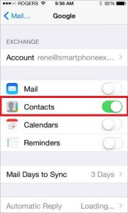 choose contacts in iPhone